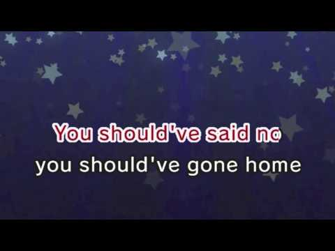 Taylor Swift - Should've Said No (Karaoke and Lyrics Version)