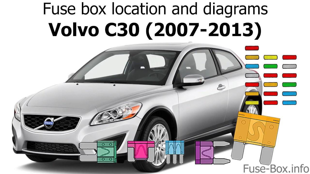 Fuse Box Location And Diagrams  Volvo C30  2007