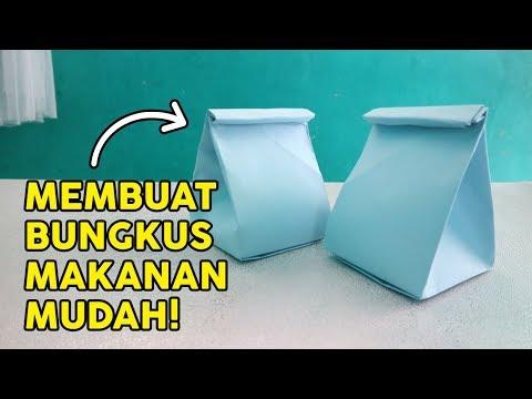 MEMBUAT KEMASAN DARI KERTAS, BISA JUGA UNTUK BUNGKUS KADO/MAKANAN, How to fold paper easy Tutorial