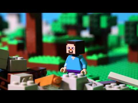 Minecraft Animation Wallpaper The First Night Lego Minecraft Stop Motion Youtube