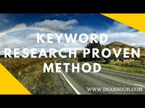 Keyword Research Proven Method 2016-17 - How to Do Keyword Research