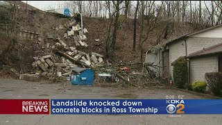Landslide Brings Down Concrete Blocks In Ross Twp.