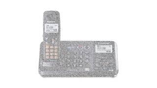 Panasonic KX TG9381T 2 Line Expandable Cordless Phone and Answering System, Metallic Black, 1 Handse
