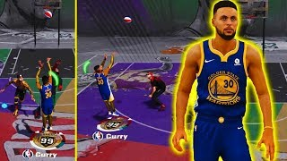 99 OVERALL STEPHEN CURRY IS A CHEAT CODE AT THE PARK | PURE SHARP NEVER MISSES 2K HACK OMG !!!
