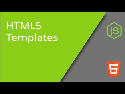 Using HTML5 Templates