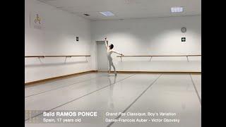"""Variación GRAND PAS CLASSIQUE. Saïd Ramos Ponce, finalista """"Prix de Lausanne"""" 2021"""