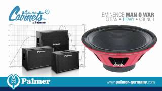 Palmer Custom Made Cabinets with Eminence Man O War speaker-chassis