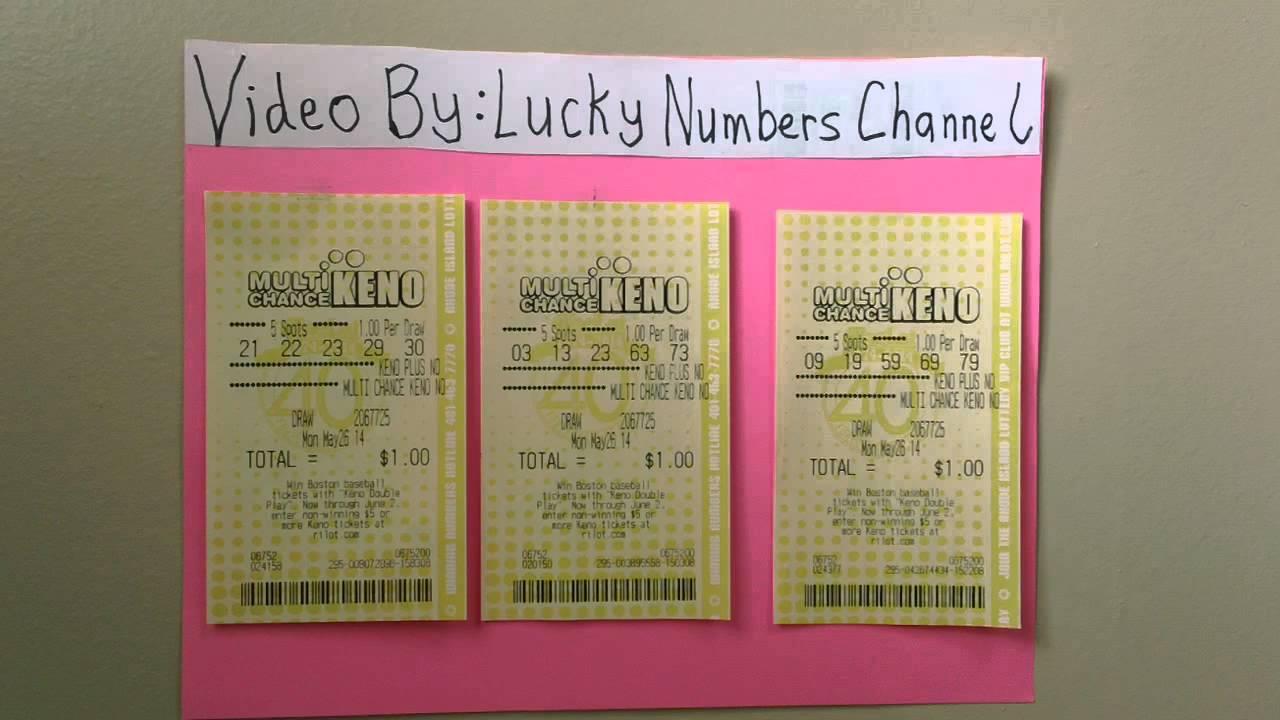 Keno lottery ticket scanner