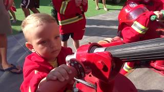 Funny Dani Firefighter costume Pretend Play/ Fun Story about Firefighter and toy Dog