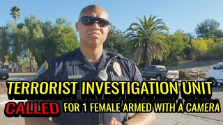 WOW! MUST WATCH! TERRORIST INVESTIGATION UNIT FOR 1 WOMAN WITH A CAMERA