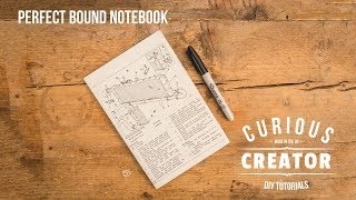 #30 Perfect Bound Notebook Bookbinding - DIY Curious Creator
