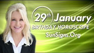 Birthday January 29th Horoscope Personality Zodiac Sign Aquarius Astrology