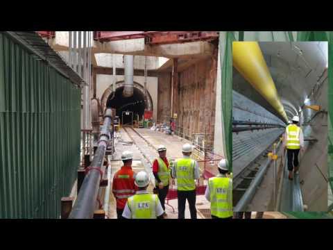Singapore Technical Tours MRT Thomson East Coast Line Tunnel Rail Construction SITCE'16