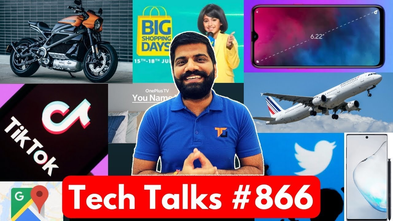 Tech Talks #866 - M40 Giveaway, OnePlus TV, TikTok Death, Realme 3i, EMUI 10, Twitter Updates