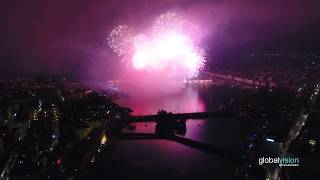 Grand feu d'artifice - Fêtes de Genève 2017 [DRONE / UAV]