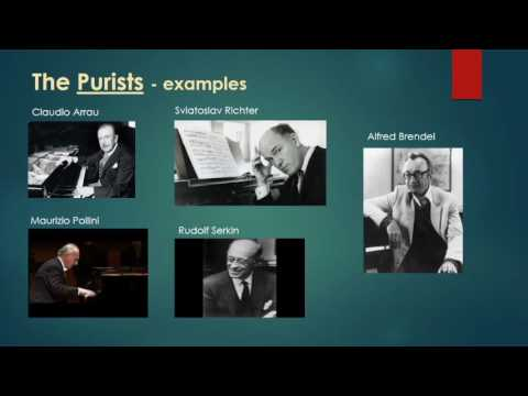 Types of great Classical Pianists