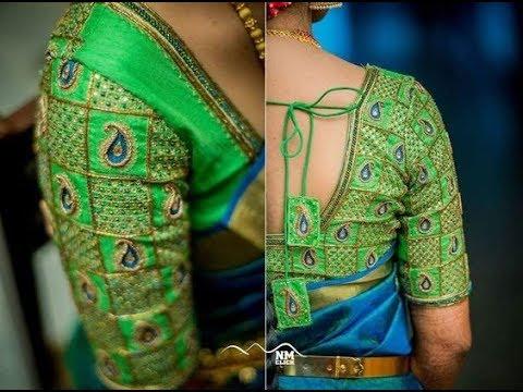 Latest Designer Embroidery Saree Blouse Designs Youtube