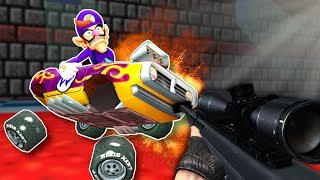 What if Mario Kart had GUNS? - Garry's Mod Gameplay - Gmod Racing