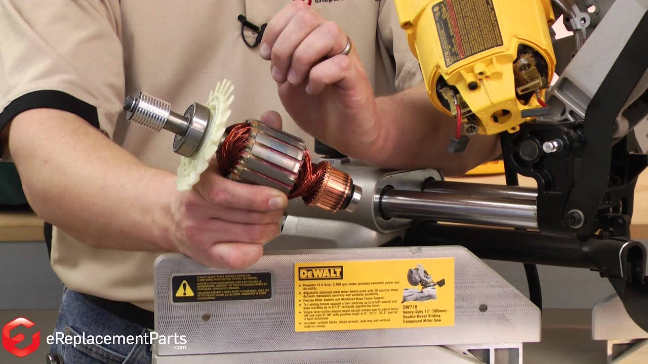 How to remove and replace the armature on a dewalt dw718 miter saw how to remove and replace the armature on a dewalt dw718 miter saw keyboard keysfo Image collections