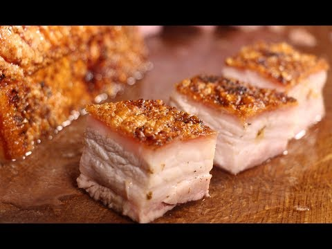 CRACKLING CRISPY CRUNCHY PORKBELLY with smoked egg salad - english Grill- and BBQ-Recipe - 0815BBQ