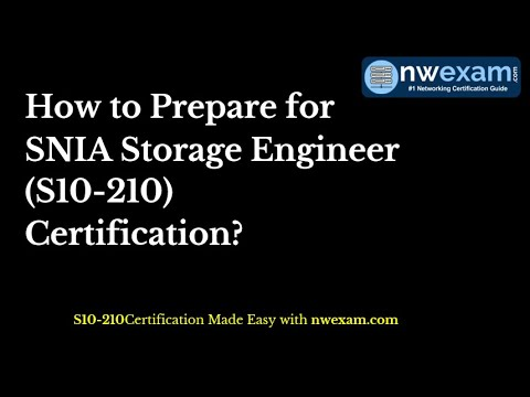Learn How To Get Success In SNIA Storage Engineer (S10-210) Certification Exam