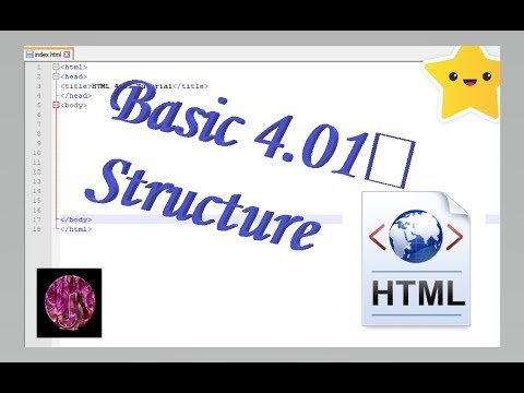 Intro To Web Ep.1 {Basic HTML 4.01 Structure}