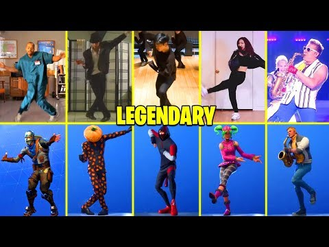 ALL *LEGENDARY* FORTNITE DANCES IN REAL LIFE! (SCENARIO, ELECTRO SWING, SMOOTH MOVES)