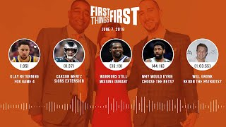 First Things First audio podcast (6.7.19) Cris Carter, Nick Wright, Jenna Wolfe | FIRST THINGS FIRST