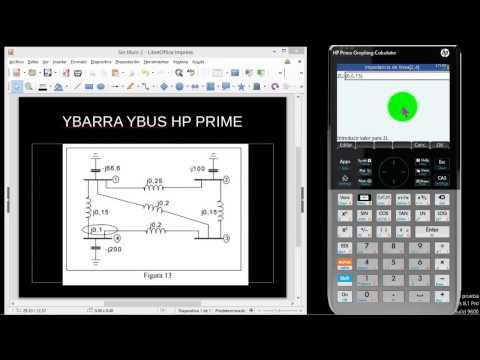 HP PRIME : YBUS YBARRA SE UN SISTEMA ELÉCTRICO DE POTENCIA