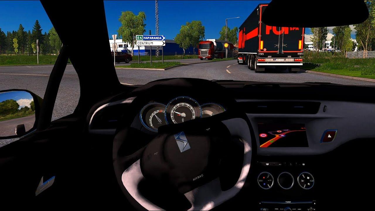 Citroen DS3 - Euro Truck Simulator 2 [Steering wheel gameplay]