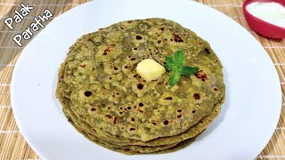 Palak Paratha Recipe | Healthy Iron Rich Spinach Paratha | पालक पराठा रेसिपी | DaalPani