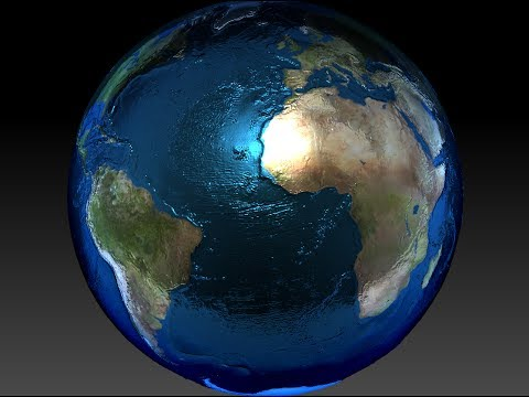 Planet earth with 3d topography 3d model youtube planet earth with 3d topography 3d model sciox Gallery