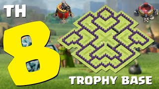 Clash of Clans - Layout de Defesa para Centro de Vila 8 - CV8/TH8 (Town Hall 8 Trophy Base)