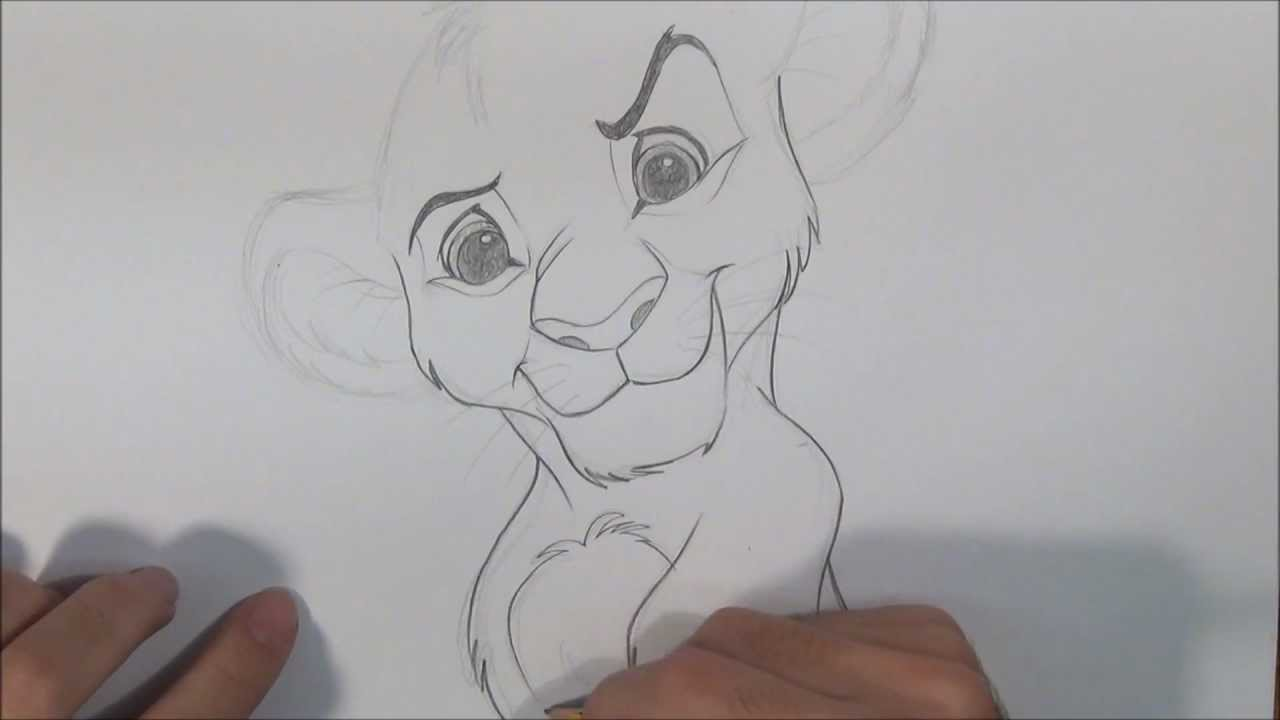 Dibujar a Simba del Rey León - YouTube