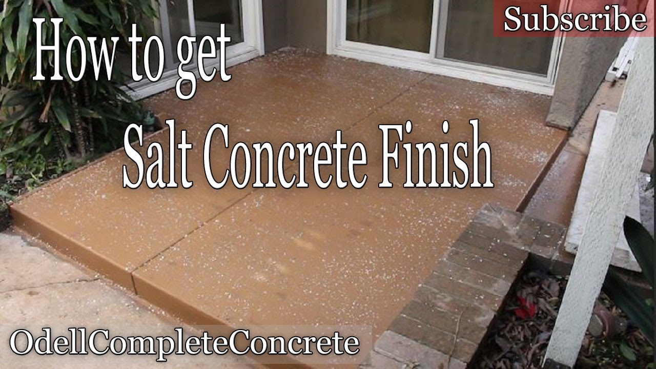 How To Pour A Concrete Patio Rock Salt Finish Diy Youtube