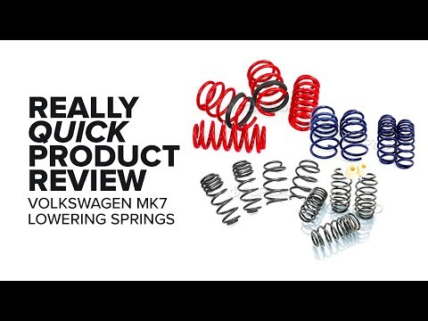 Volkswagen Mk7 Lowering Springs - Options, Features and Product Review