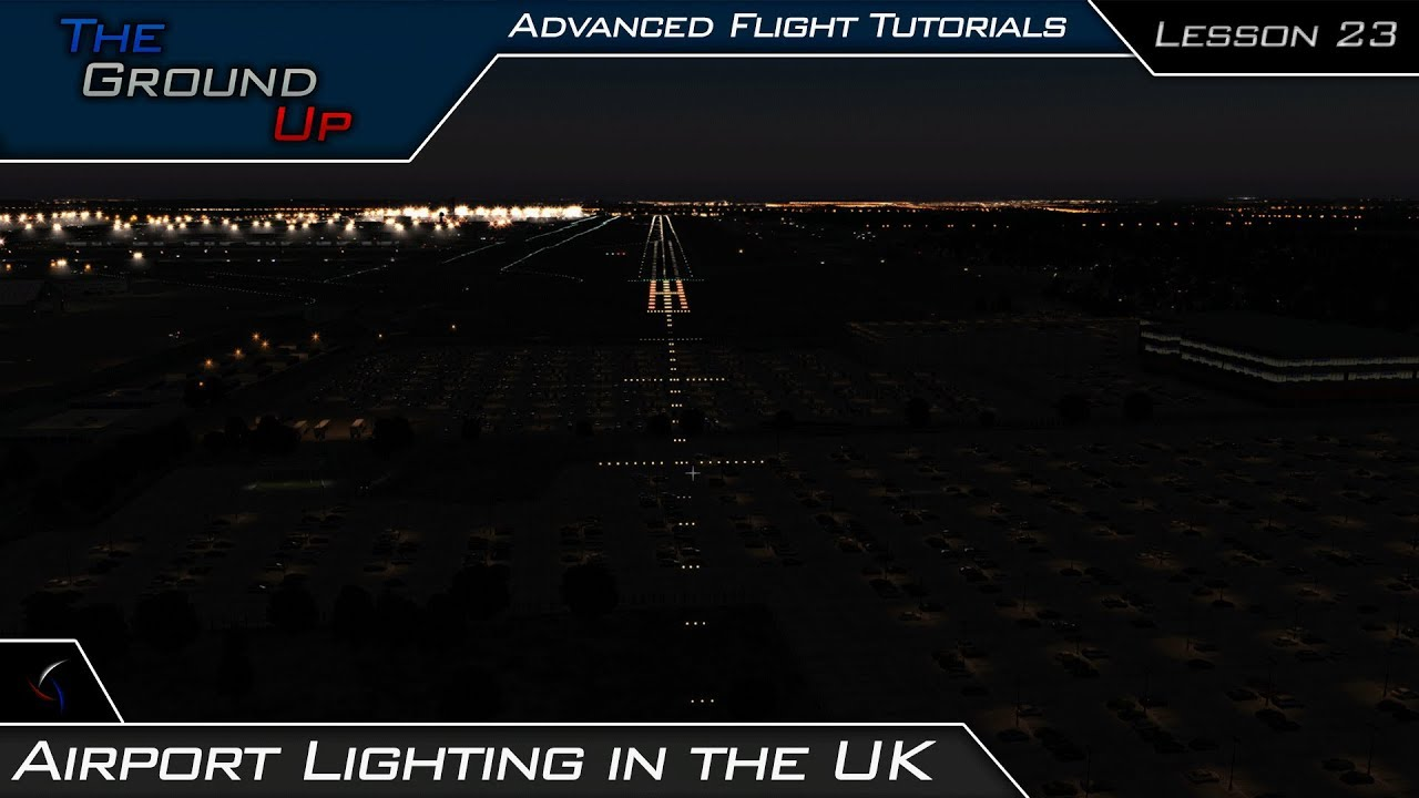 Airport Lighting Taxiway Runway Roach Uk Caa Advanced Flight Tutorials Lesson 23