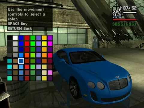 Auto Paint Colors >> New car colors gta sa - YouTube