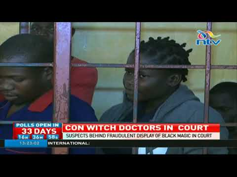 Suspects behind fraudulent display of black magic in Mombasa arraigned in court