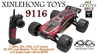 XINLEHONG JOGUINES 9116 (GPTOYS S912) 2.4GHz, 2Ch, 2WD, 1 Scale, RC Off-road Monster Truck (RTR)