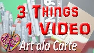 Art Haul, Product Review and 3 Marker Challenge