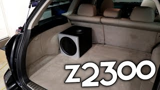 LOGITECH Z2300 SUBWOOFER IN MY CAR!