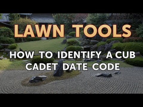 How to Identify a Cub Cadet Date Code