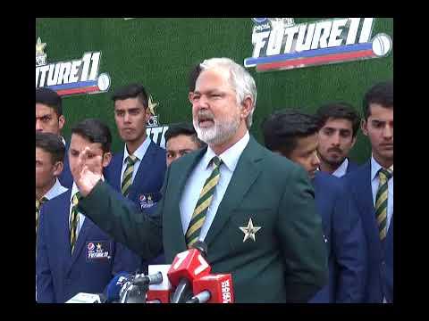 Current Line: pak U19 team manager Nadeem Khan on Blue color blazer of pak  team