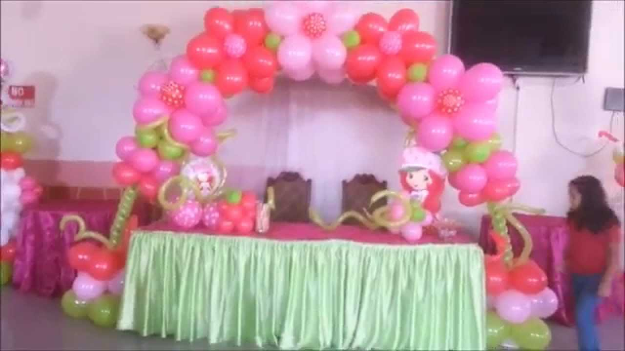 Fiesta de cumplea os de strawberry shortcake decoracion - Fiestas de cumpleanos decoracion ...