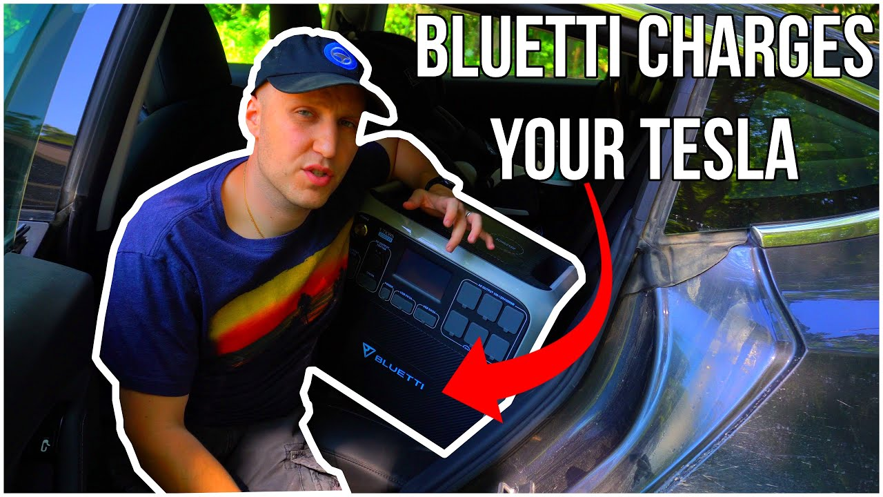 This Portable Battery Can Charge Your Tesla If You Get Stranded! | Bluetti AC200 Charges Model 3