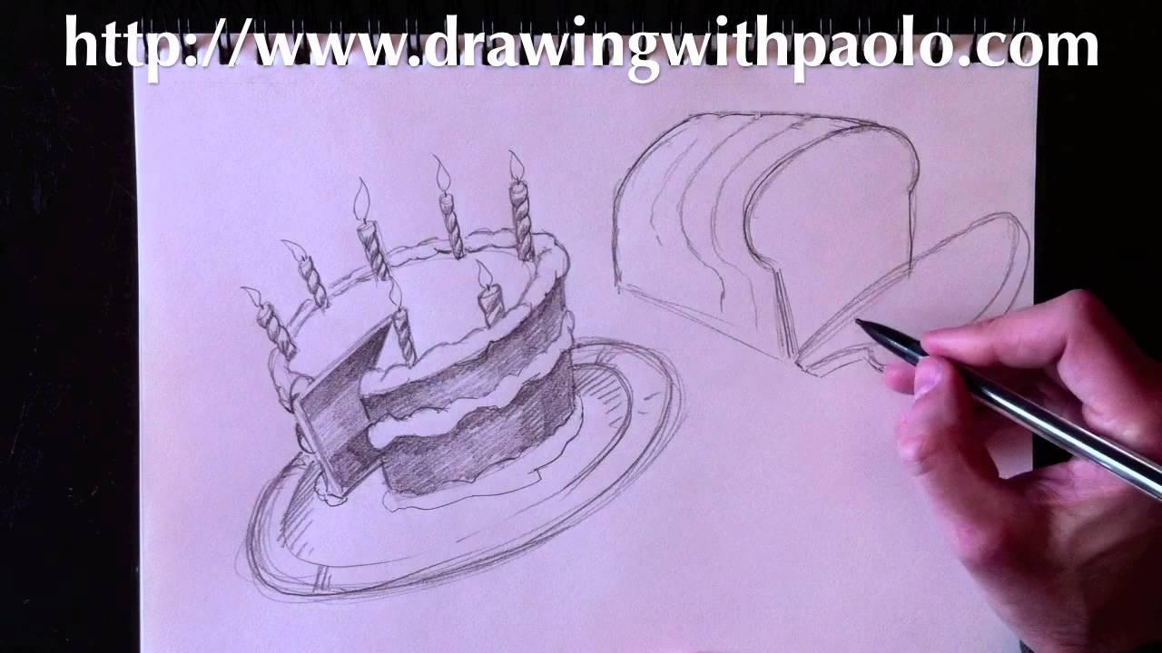 Comment dessiner un gateau facile
