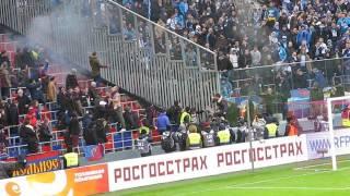 ЦСКА-Зенит 04.08.2017. Стычки фанатов. Сожжение флага.