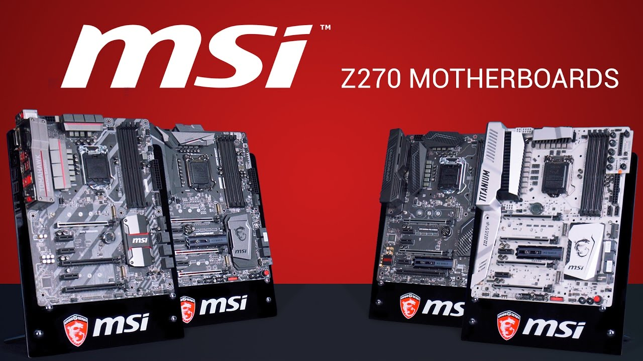 Msi Z270 Gaming Pro Carbon Hd Wallpaper: MSI Z270 Series Motherboards