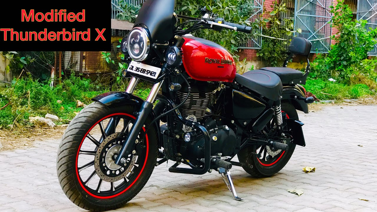 New Royal Enfield Thunderbird 350 modified as 350X (Update